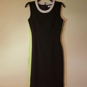 Calvin klein colorblock shift dress size 4
